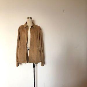 Coppley - Vintage Tan Suede Button Up Jacket
